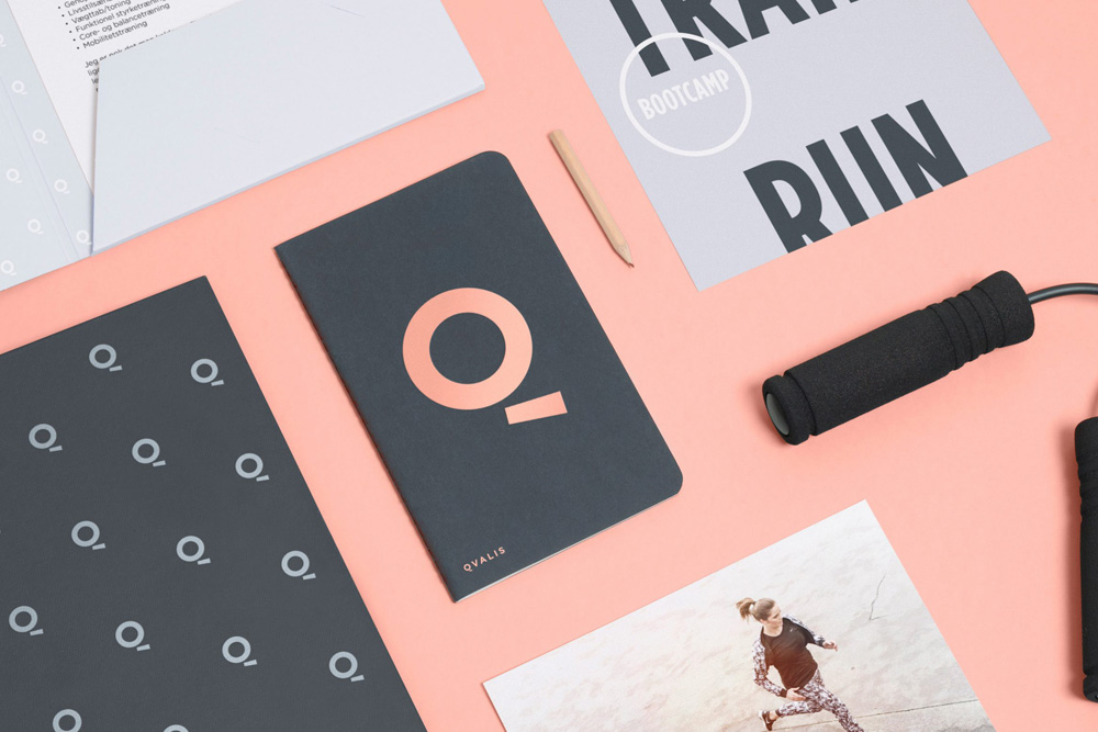 Image of branding for Qvalis including a jumprope
