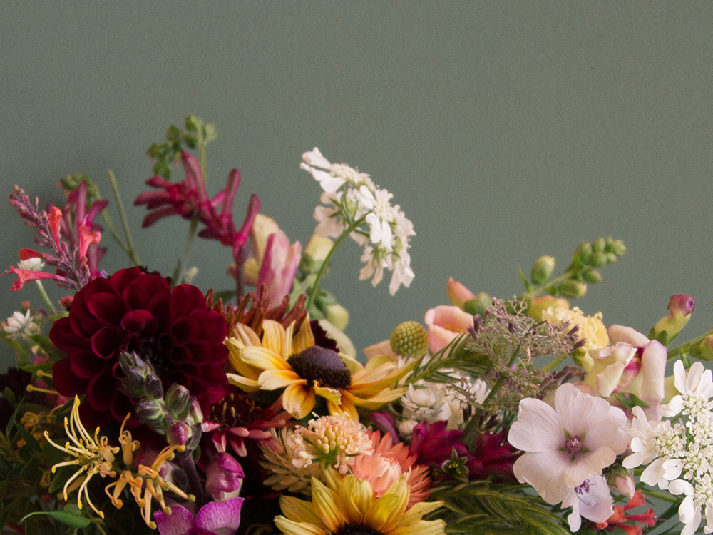 Image of upclose floral details in soft colors