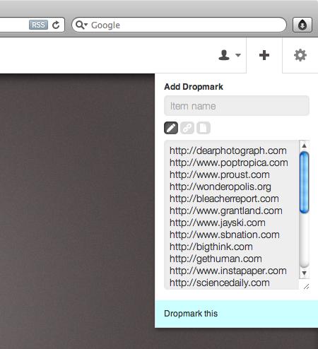 Pro tip: Importing multiple links - Dropmark
