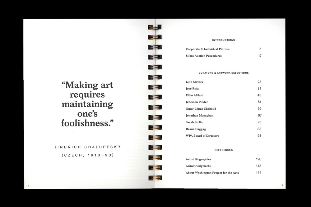 Image of booklet saying 'Making art requires maintaining one's foolishness'